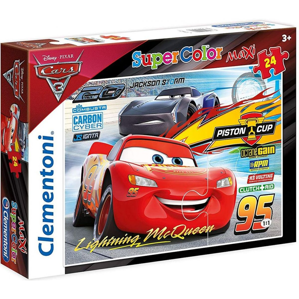 Clementoni MAXI SUPER KOLOR Cars 3 24489 24 dielikov