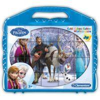CLEMENTONI Dětské kocky plastové Ledové království 24 kostek