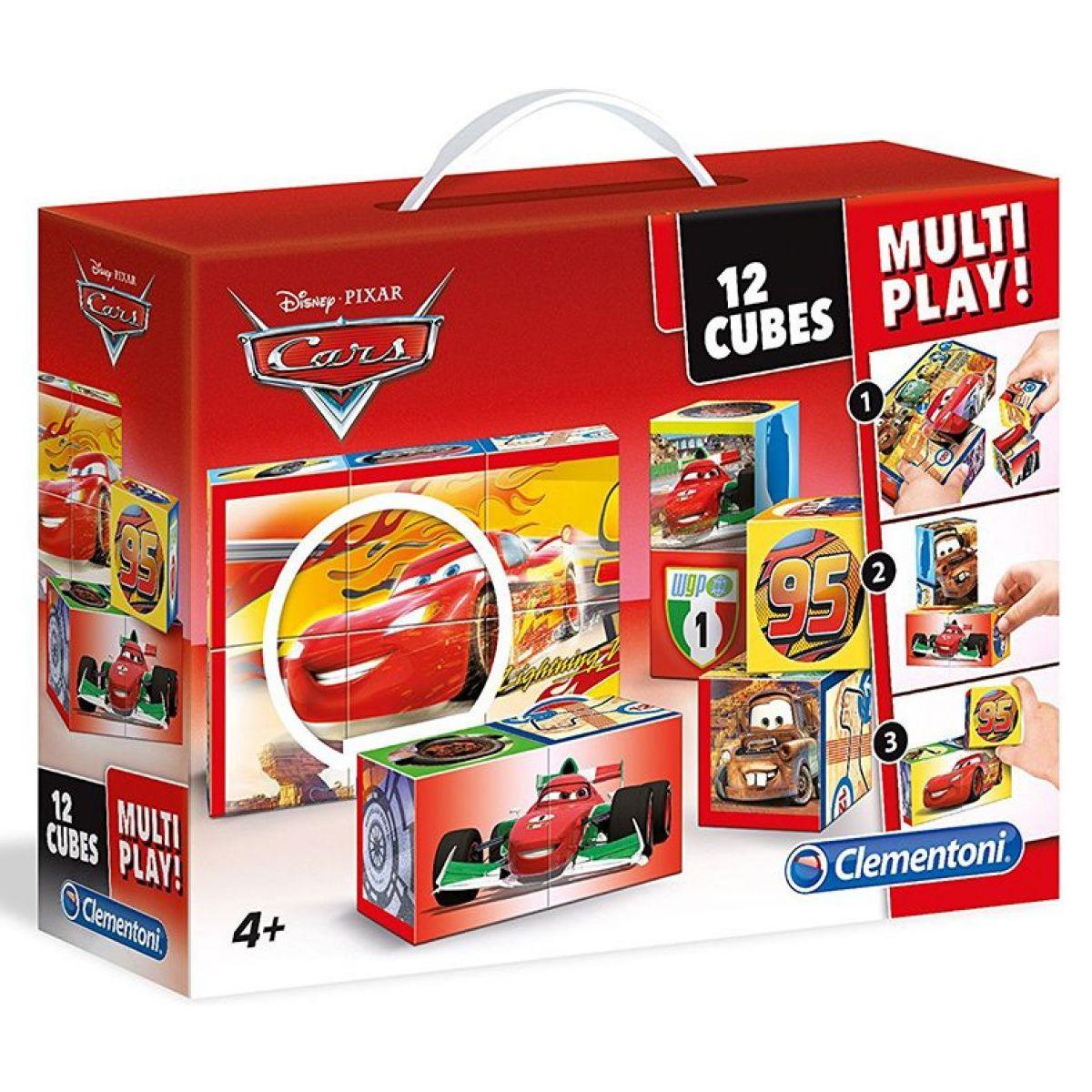 Clementoni Disney Kocky Cars Multi Play 12 kociek