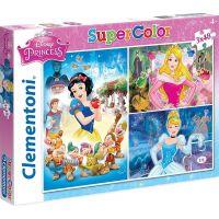Clementoni Disney Princes Supercolor Princezny 3 x 48 dílků