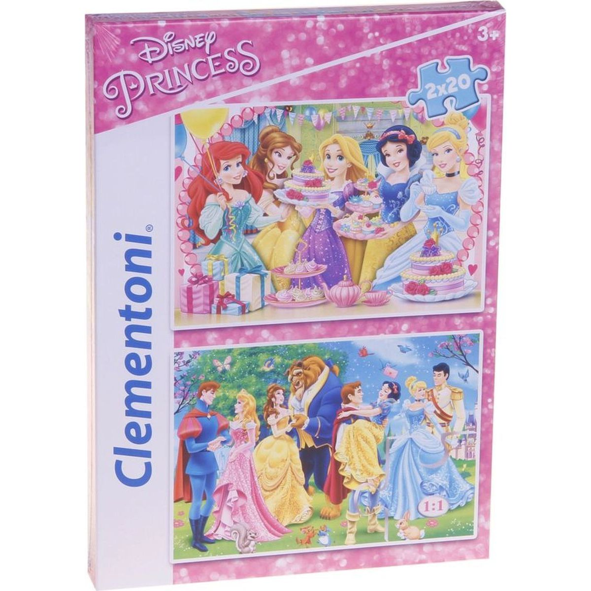 Clementoni Disney Princes Supercolor Princezny 2 x 20 dílků