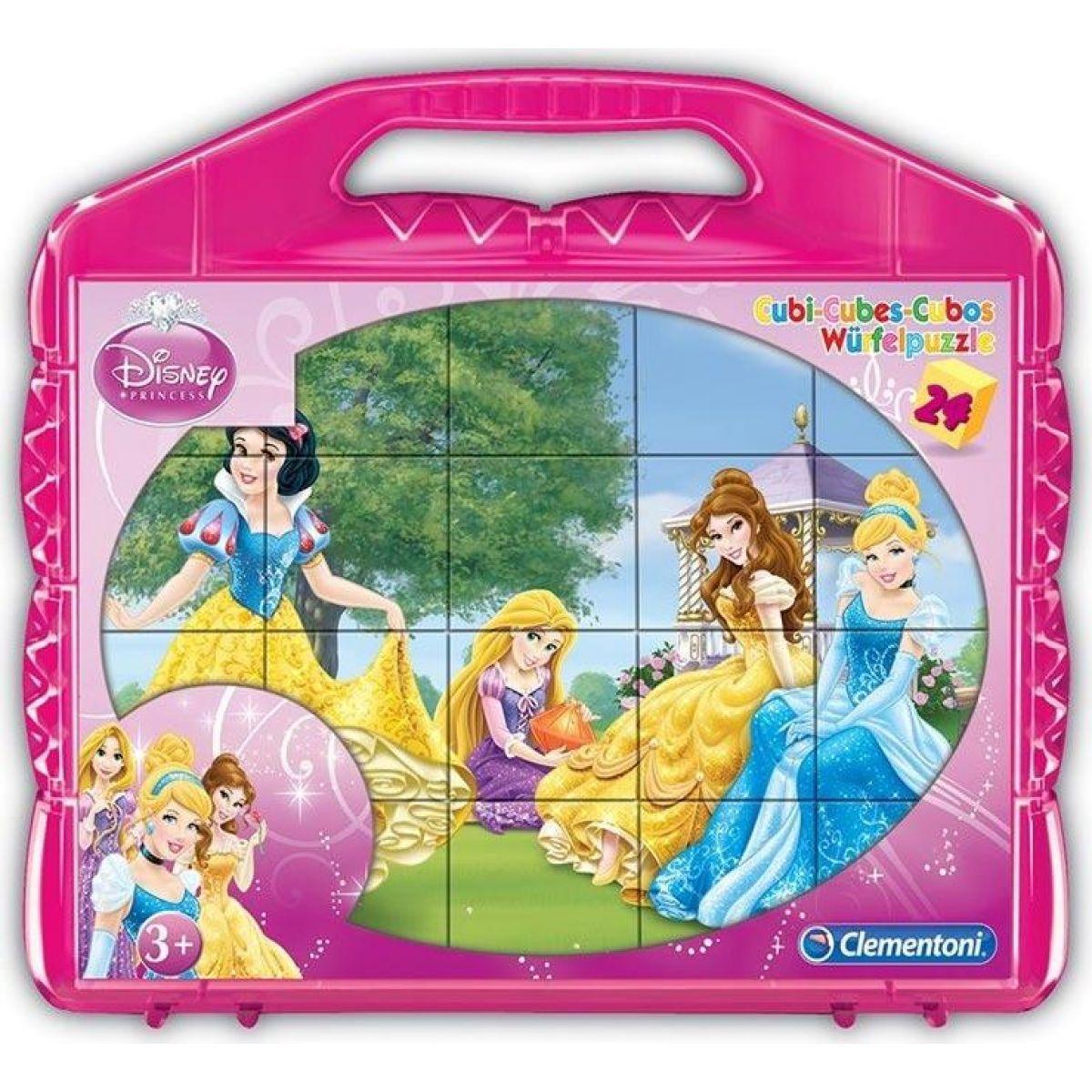 Clementoni Disney Princess Kostky v kufříku 24 ks