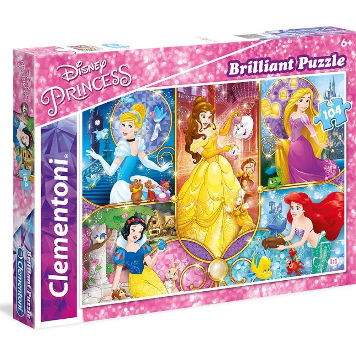 Clementoni BRILLIANT 104 dílků Princess NEW 20140