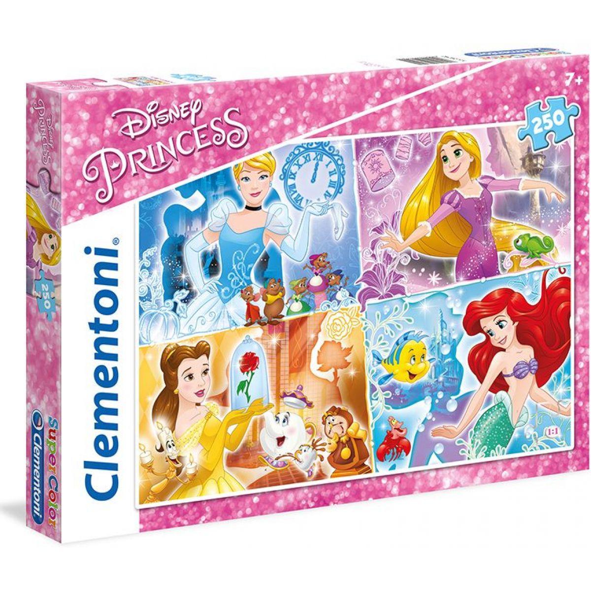 CLEMENTONI 29740 Disney princezny: Barevné světy 250 dílků