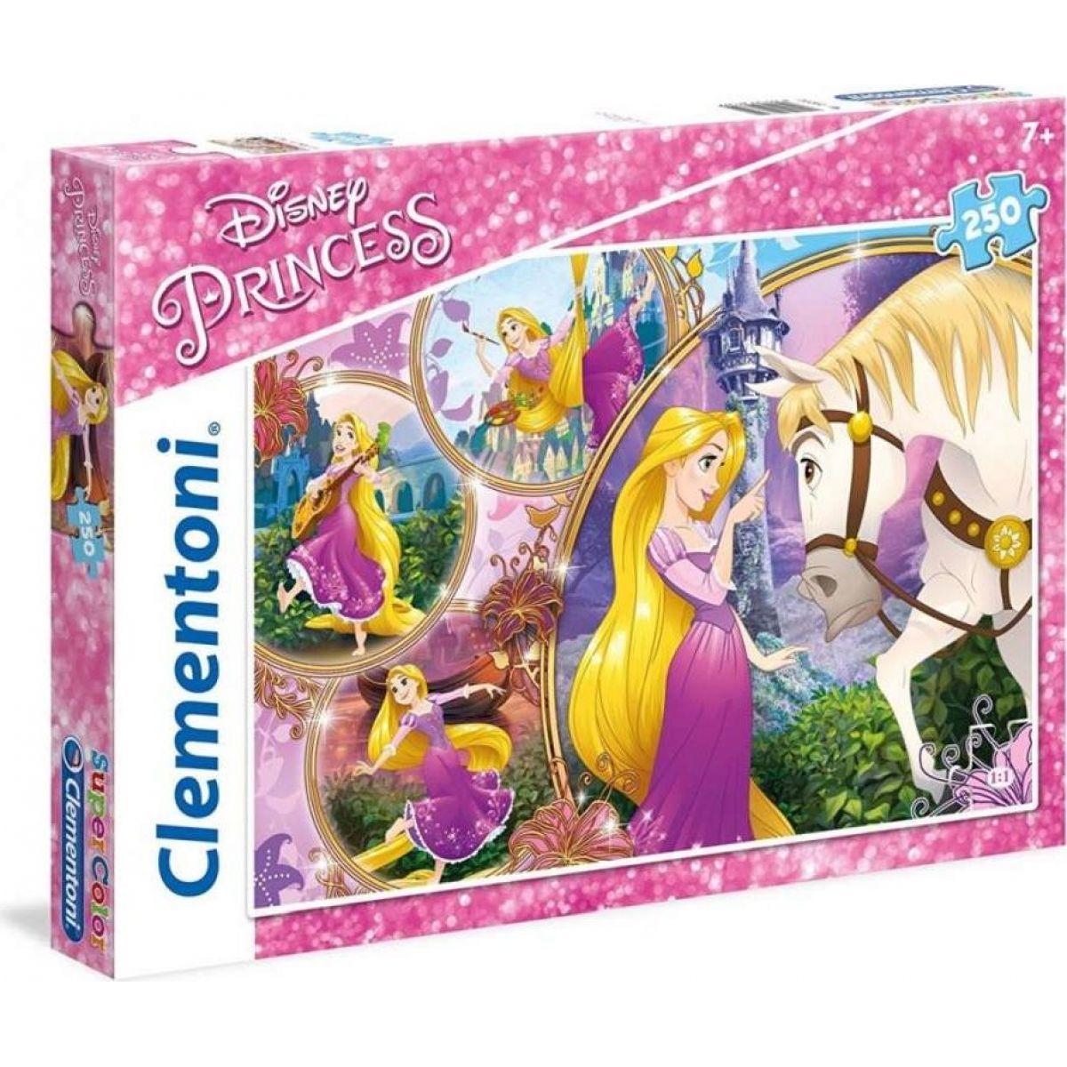 CLEMENTONI 29739 Disney princezny: Na vlásku 250 dílků