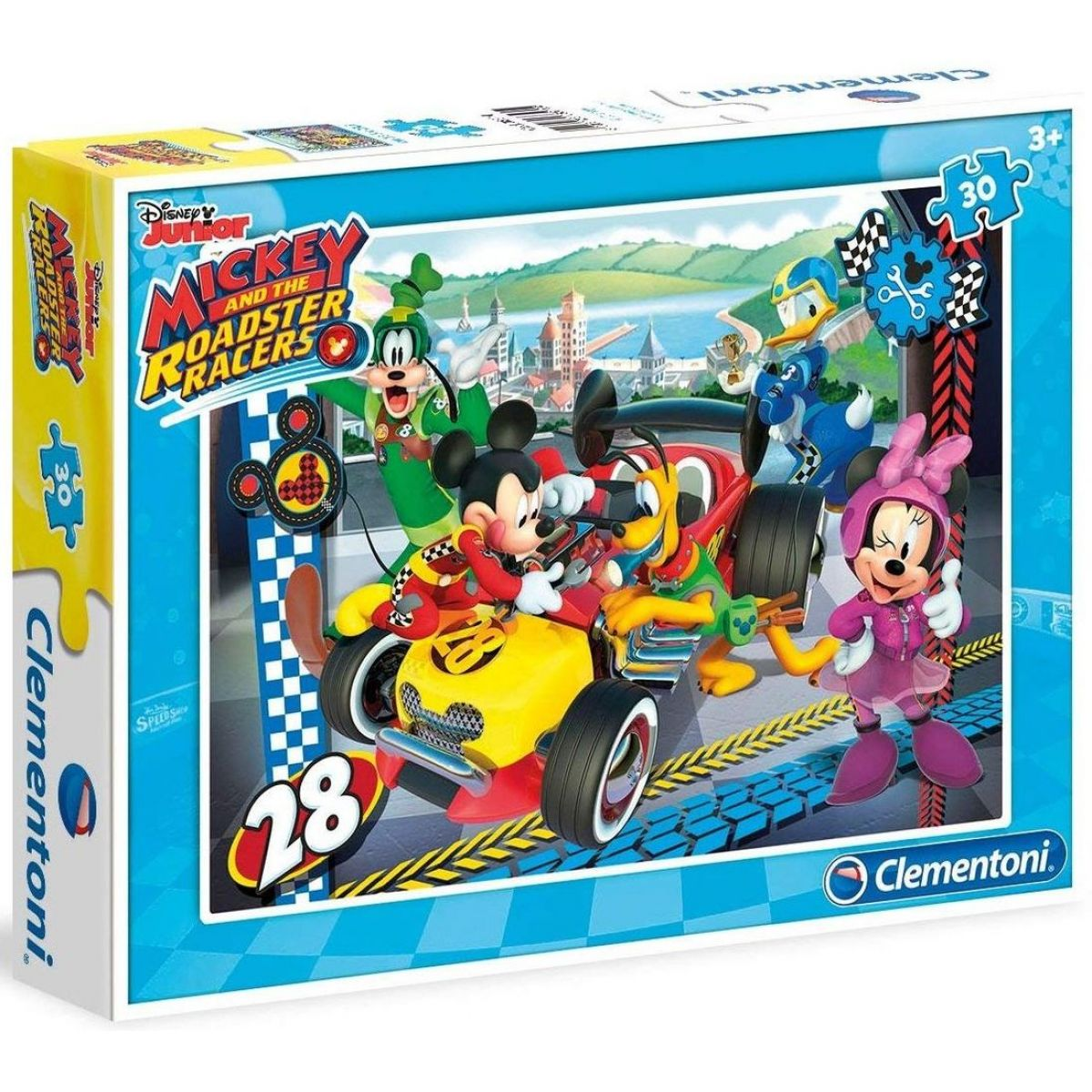 Clementoni Disney Mickey pretekár 30 dielikov