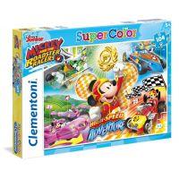 Clementoni Disney Puzzle Mickey závodník Supercolor 104 dílků