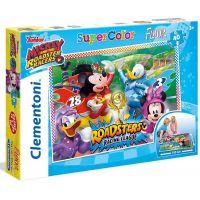 Clementoni Disney Mickey závodník Supercolor Floor 40 dílků
