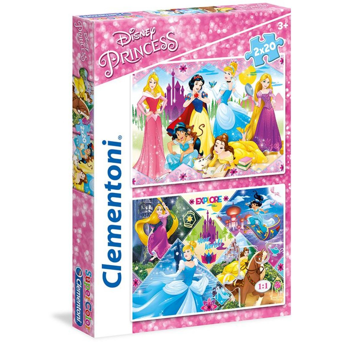 Clementoni Disney Princezné Supercolor 2x20 dielikov