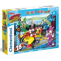 Clementoni Disney Supercolor Maxi Mickey závodník 24 dílků