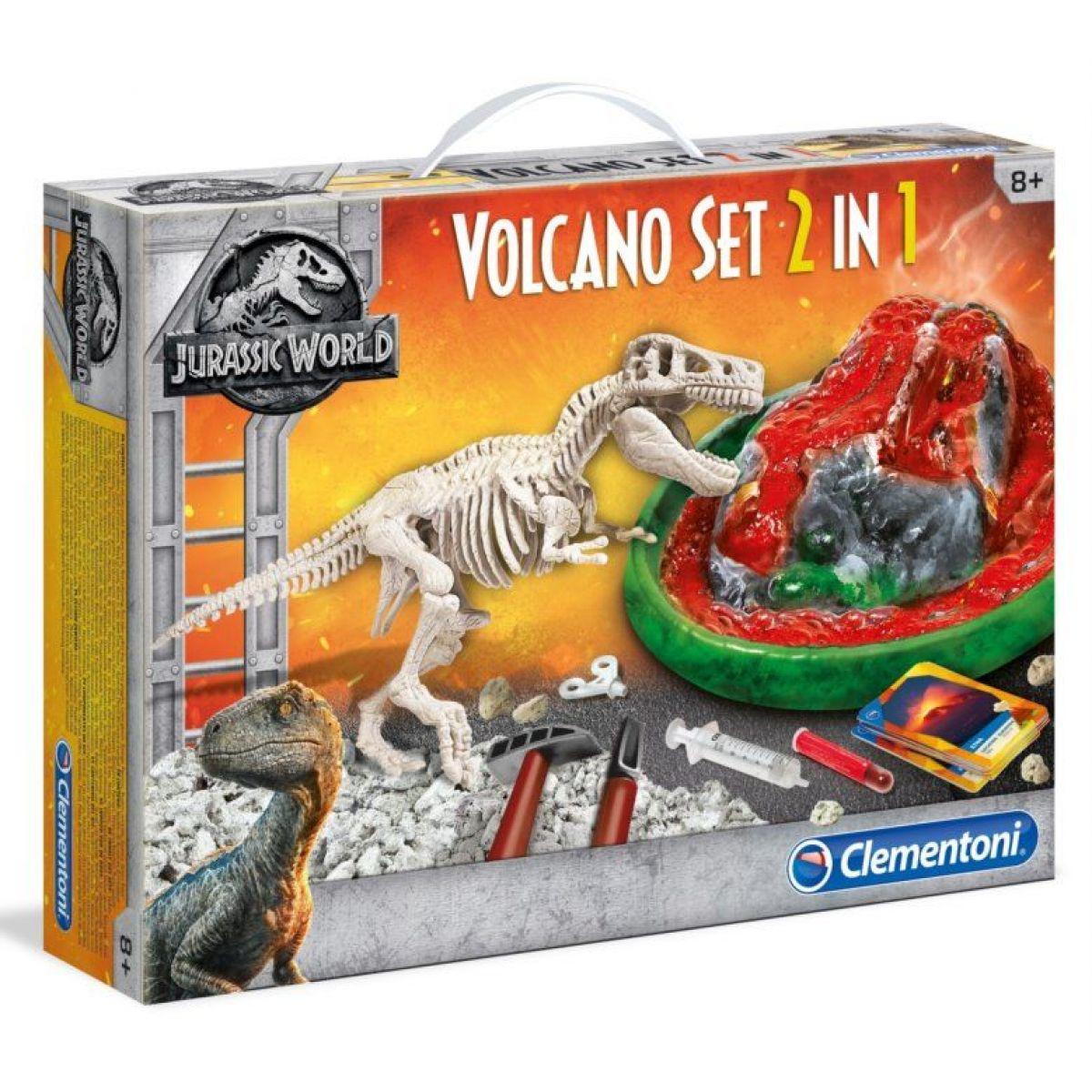 Clementoni Jurský svet Sada Sopka 2v1