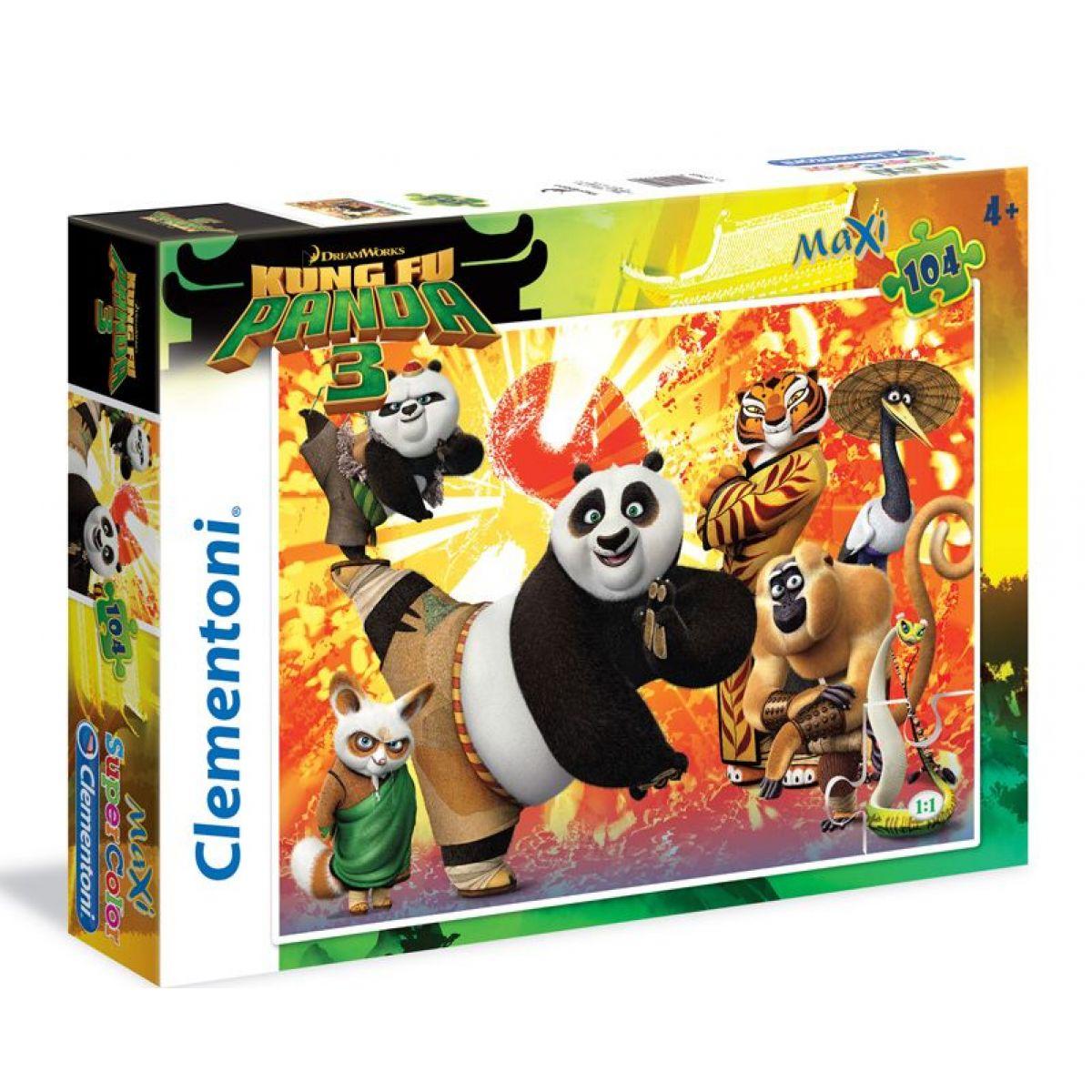 Clementoni Kung Fu Panda 3 Supercolor Maxi 104 dílků