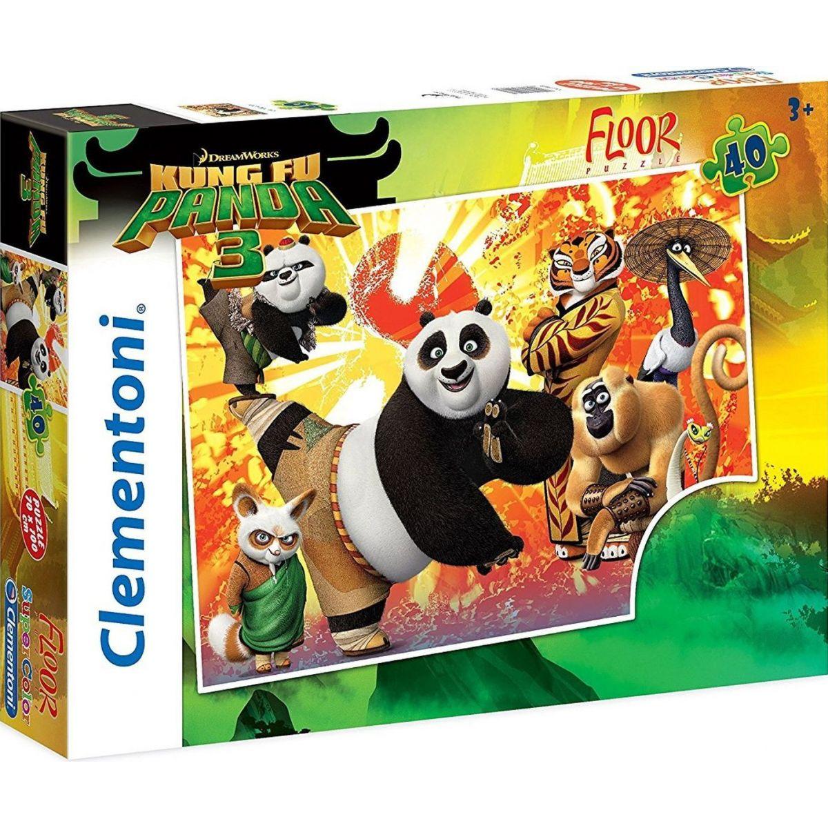 Clementoni Kung Fu Panda 3 Supercolor Maxi 40 dílků