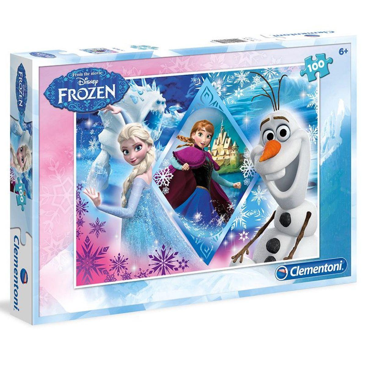 Clementoni Ľadové kráľovstvo Puzzle Anna, Elsa, Olaf 100 dielikov