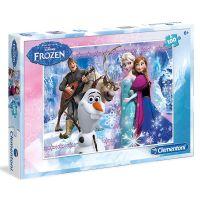 Clementoni Ľadové kráľovstvo Puzzle Anna, Elsa, Olaf, Kristoff 100 dielikov