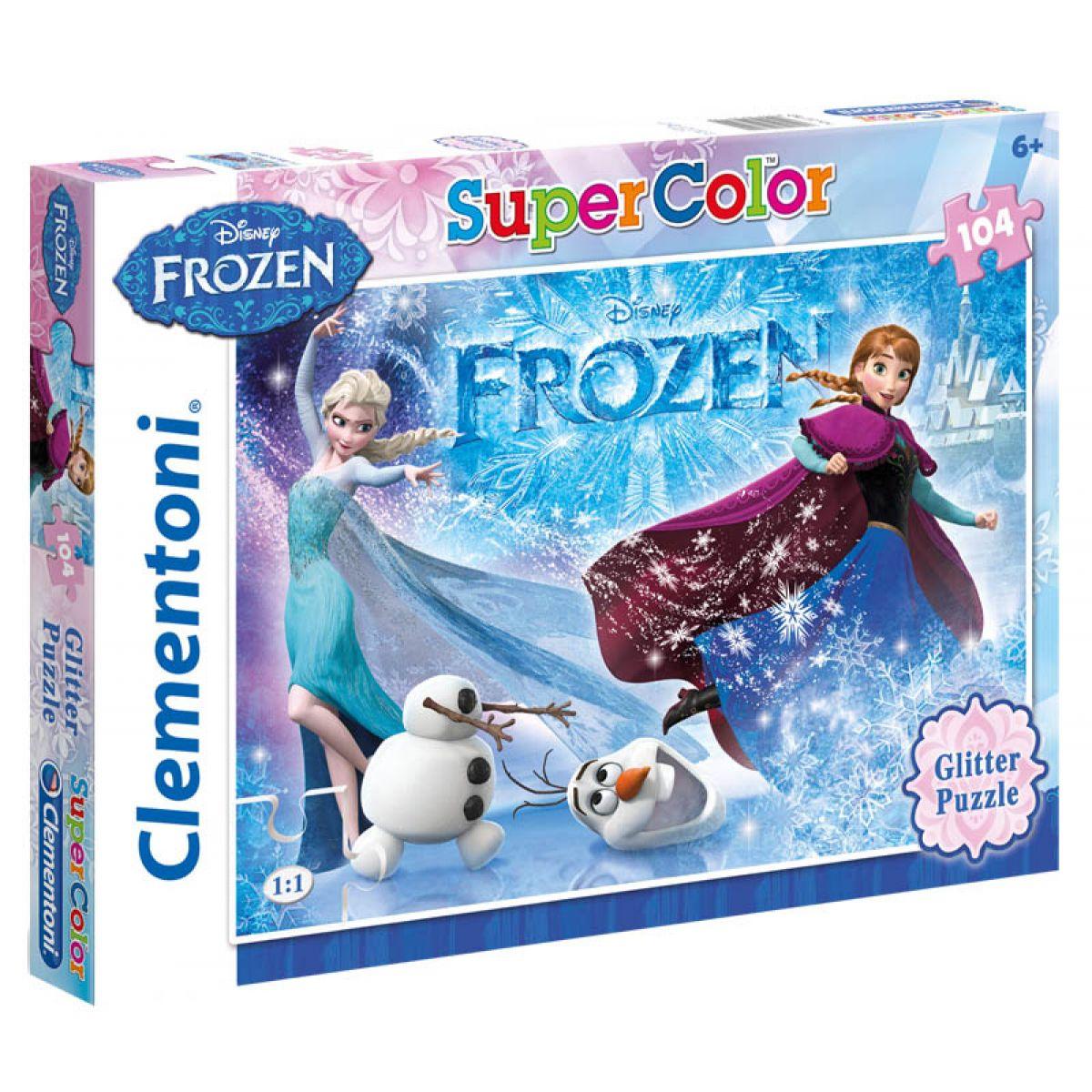 Clementoni Ledové království Supercolor Glitter Puzzle - Poškozený obal
