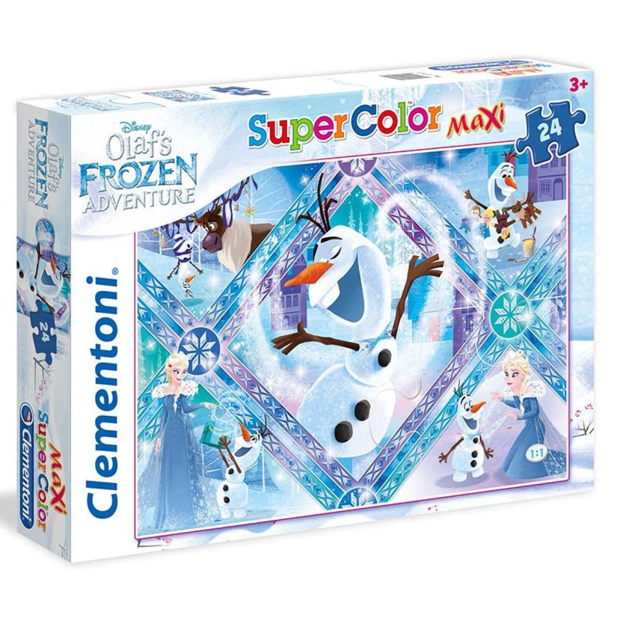 Clementoni Ľadové kráľovstvo Supercolor Maxi Olaf 24 dielikov