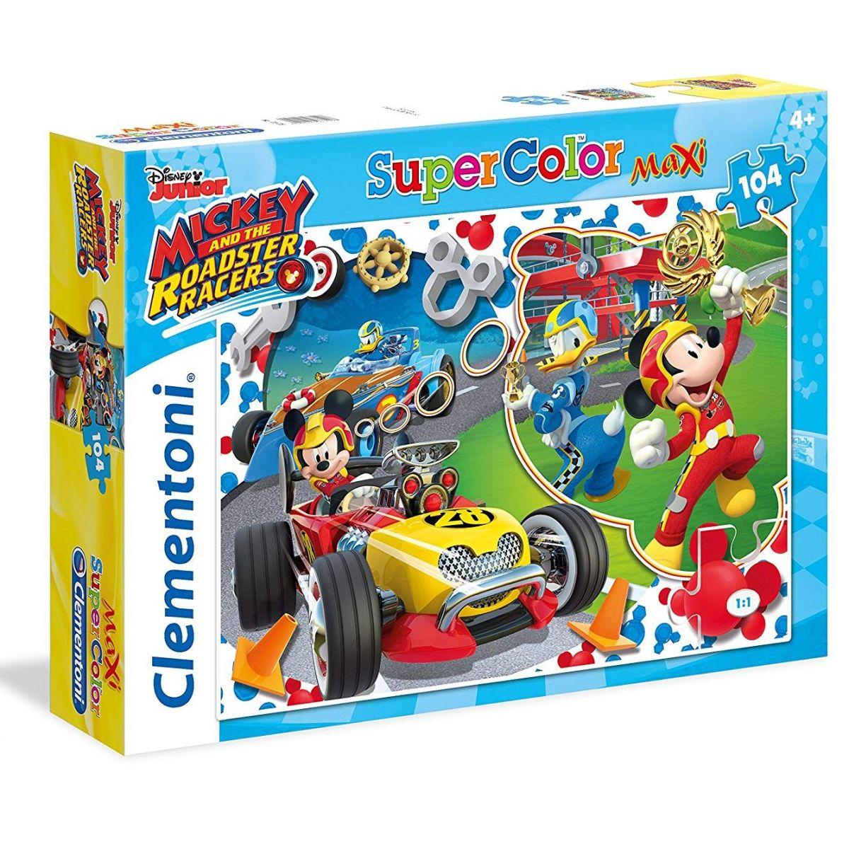 Clementoni Mickey závodník Supercolor 104 dílků