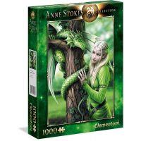 Clementoni Puzzle Anne Stokes 1000 dílků Spřízněné duše