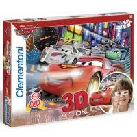 CLEMENTONI + 3D brýle Auta Cars : Velký závod 104 dílků