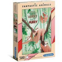 Clementoni Puzzle Fantastic Animals 500 dílků lemuři