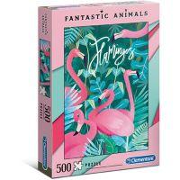 Clementoni Puzzle Fantastic Animals 500 dílků plameňáci