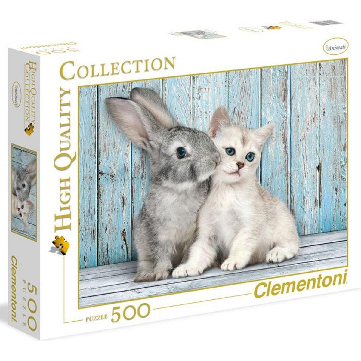 Clementoni Mačka s králikom 500 dielov