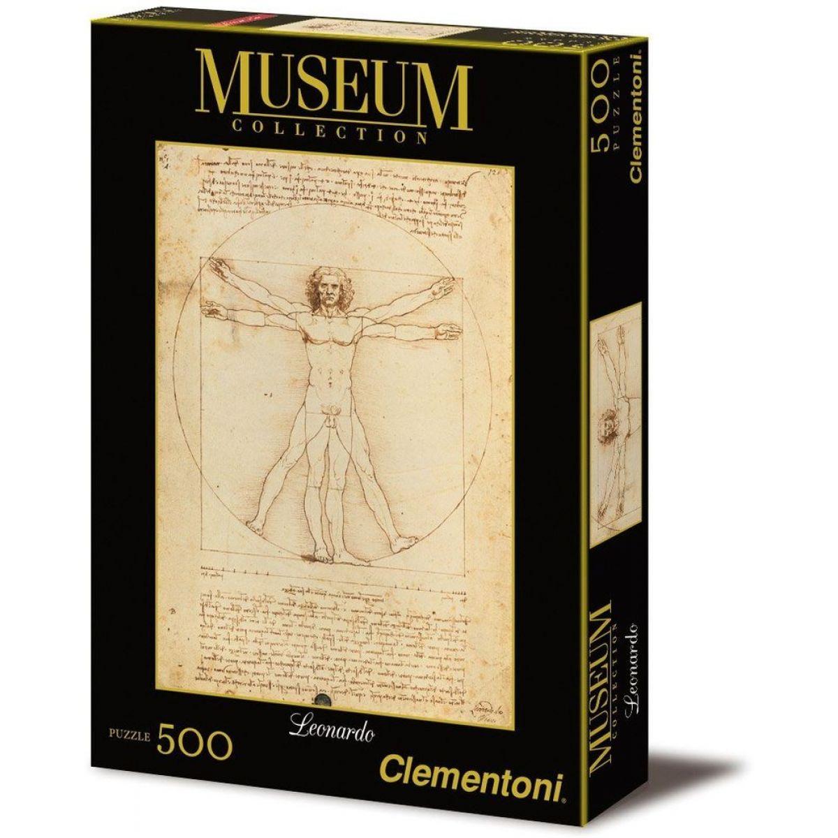 CLEMENTONI 500 dielikov Leonardo da Vinci: Vitruvianský muž proporcie ľudskej postavy