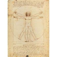 CLEMENTONI 500 dielikov Leonardo da Vinci: Vitruvianský muž proporcie ľudskej postavy 2