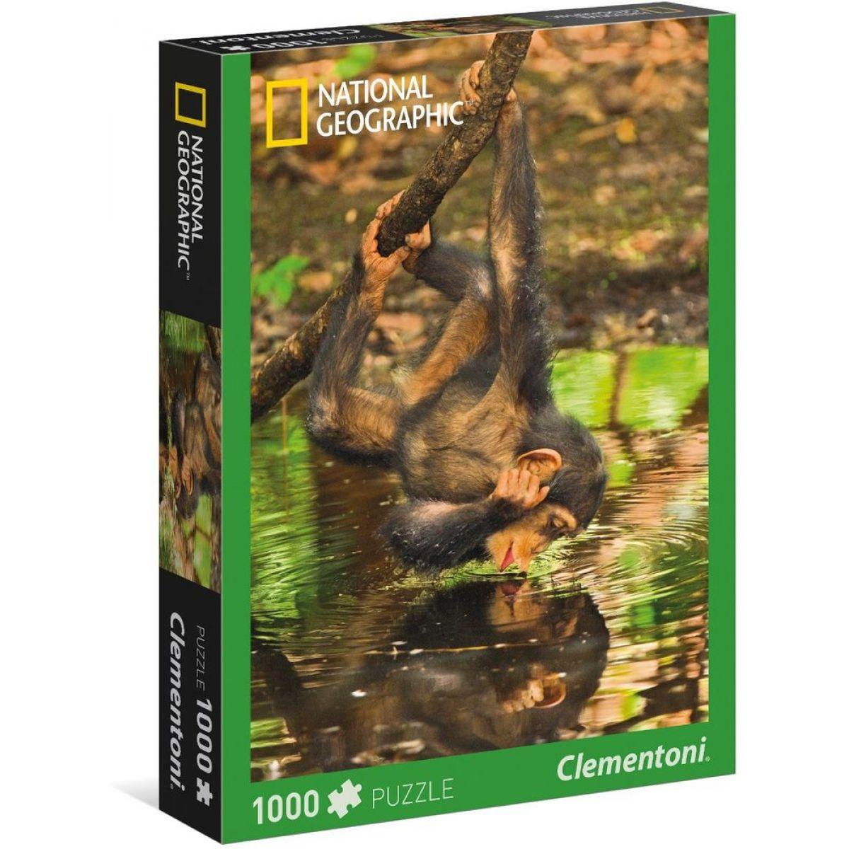 Clementoni National Geographic Scimpanzé 1000 dielov