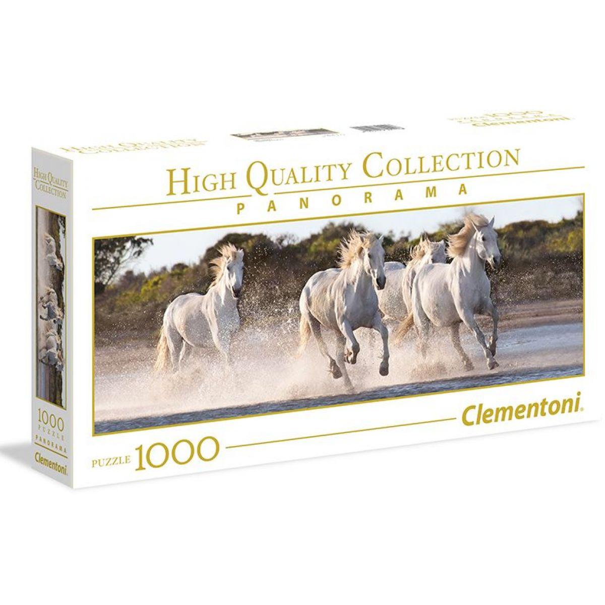 Clementoni Biele bežiace kone /39371/ 1000 dielov