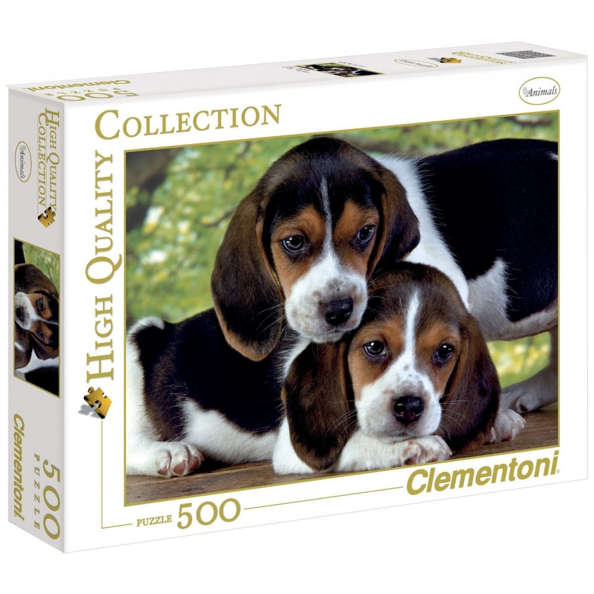 Clementoni Puzzle Šteňatá Bígla 500 dielikov