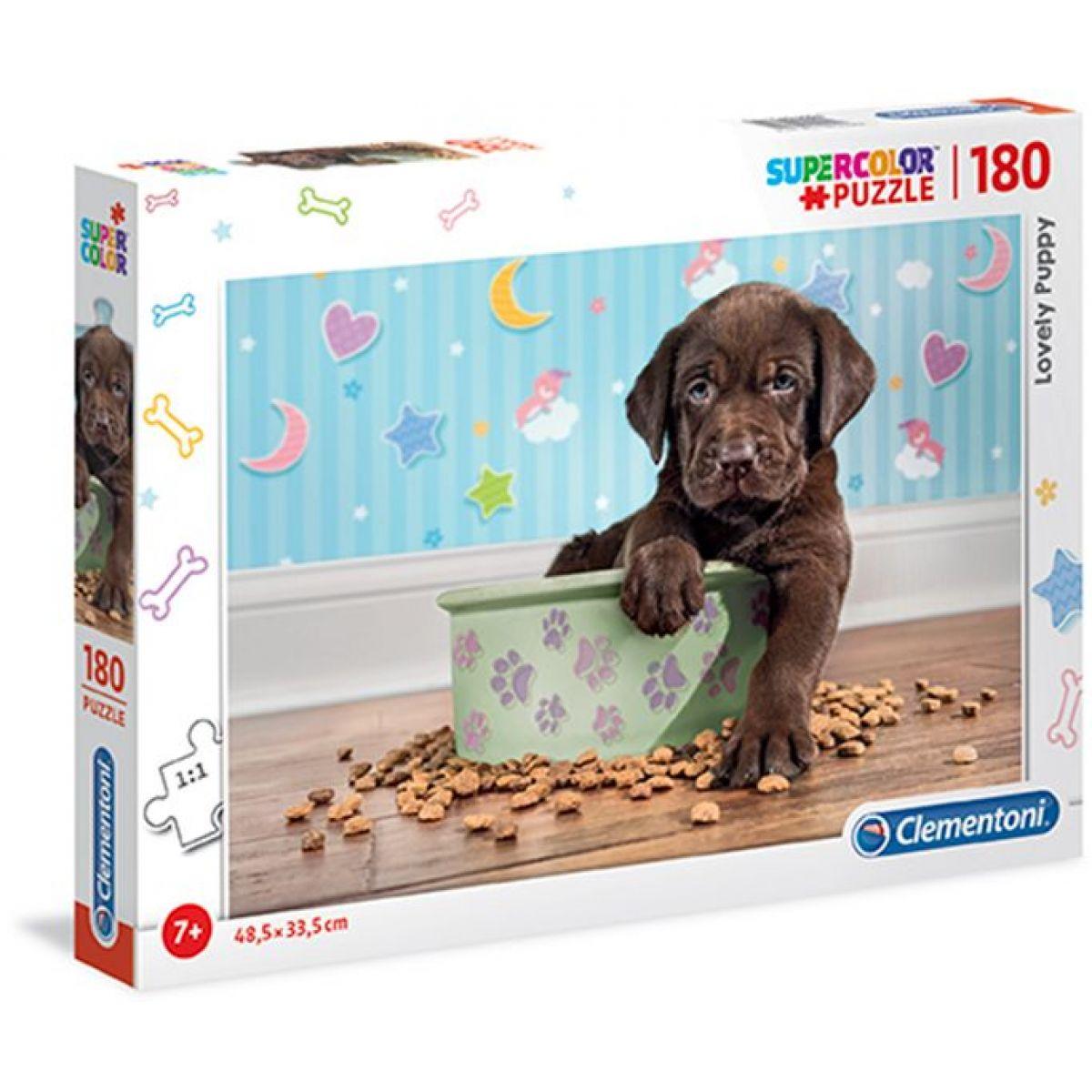 Clementoni Puzzle Supercolor 180 dílků štěně