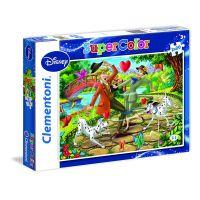 CLEMENTONI 2x20 dílků 101 Dalmatinů a lesní zvířátka