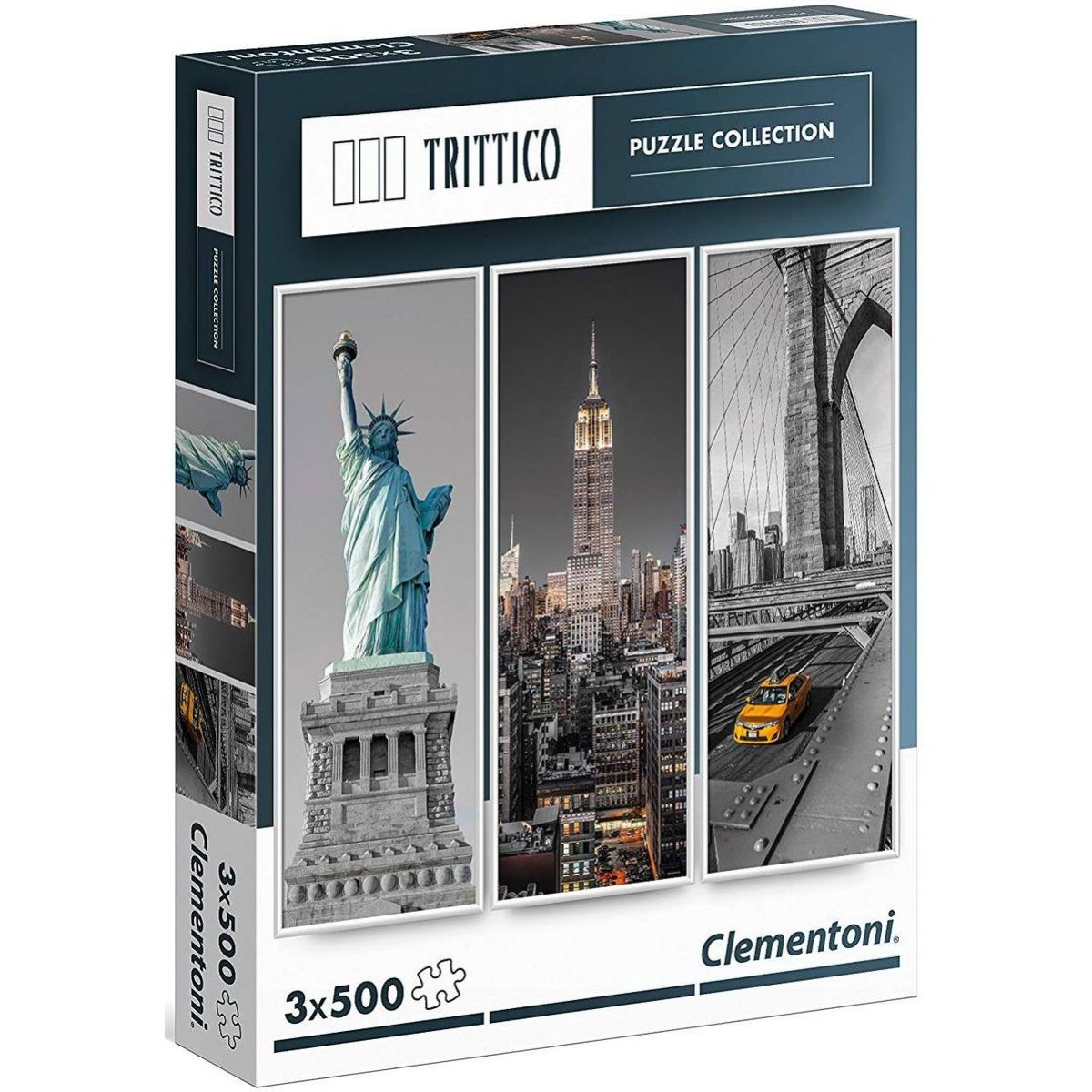 Clementoni Puzzle TRITTICO New York 3 x 500 dielikov