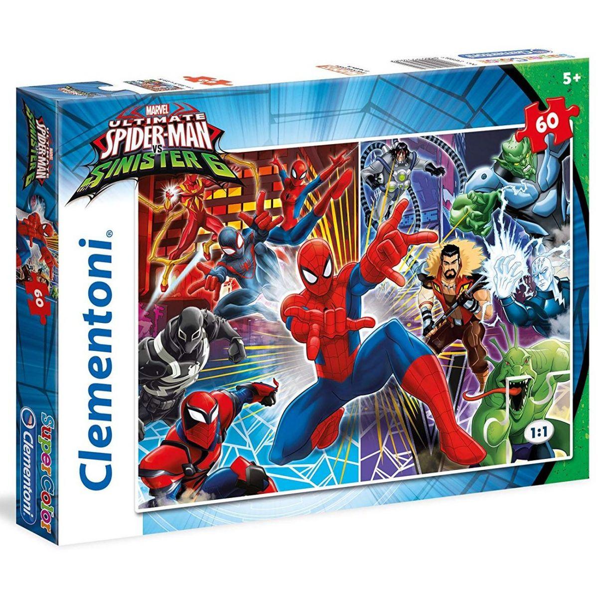 Clementoni Spiderman a Sinister 6 Puzzle Supercolor 60 dielikov