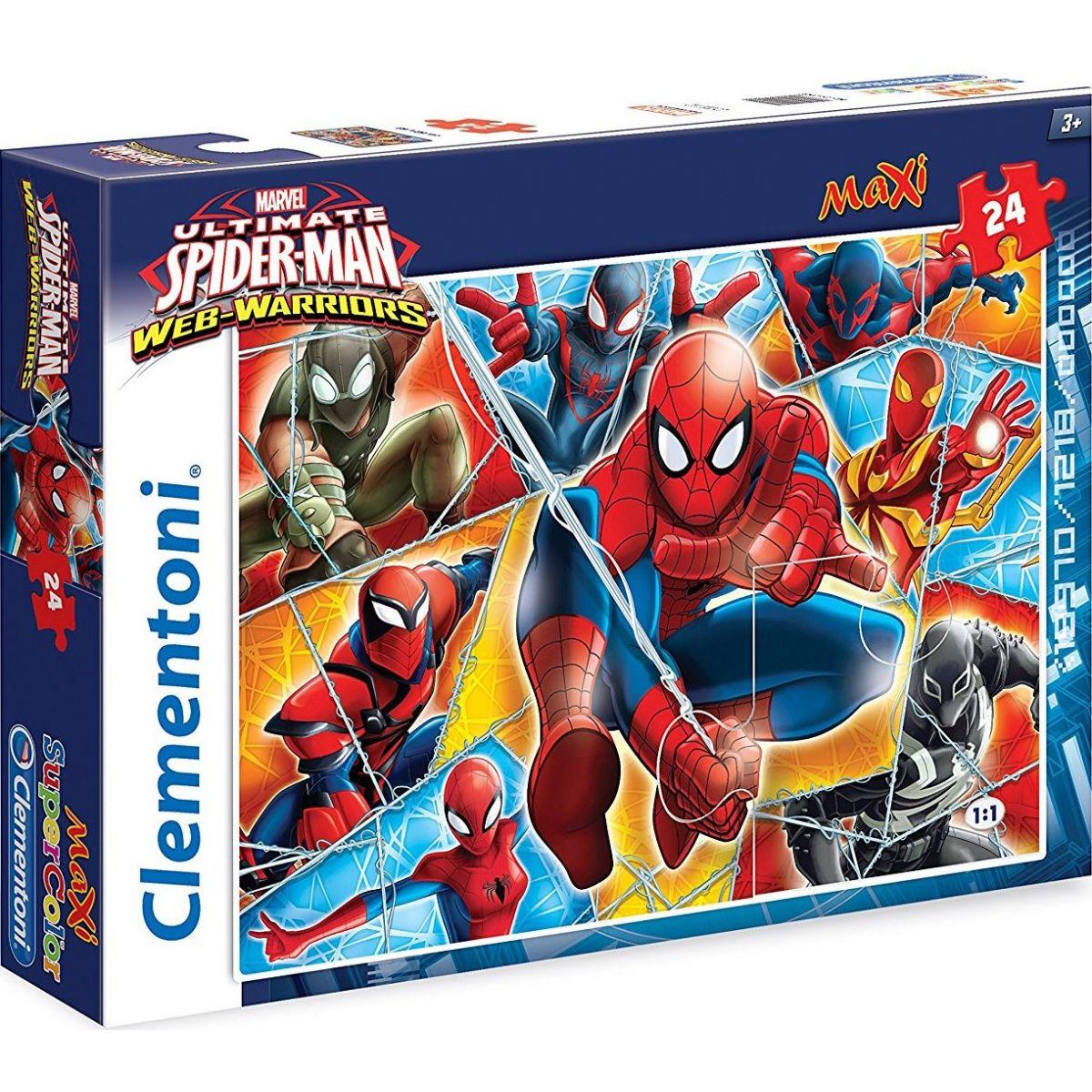 Clementoni Spider-Man Supercolor Maxi 24 dílků