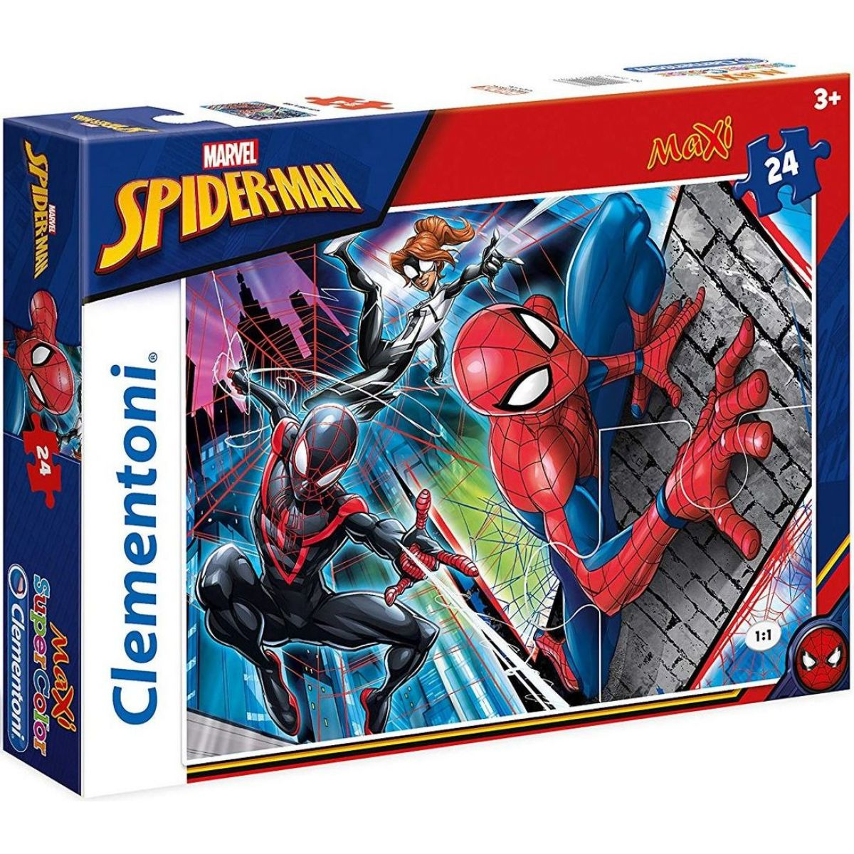 Clementoni Spider-Man Supercolor Maxi 24 dielikov