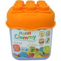 Clementoni Clemmy Farebné kocky vo vedierku Základné farby oranžové víko