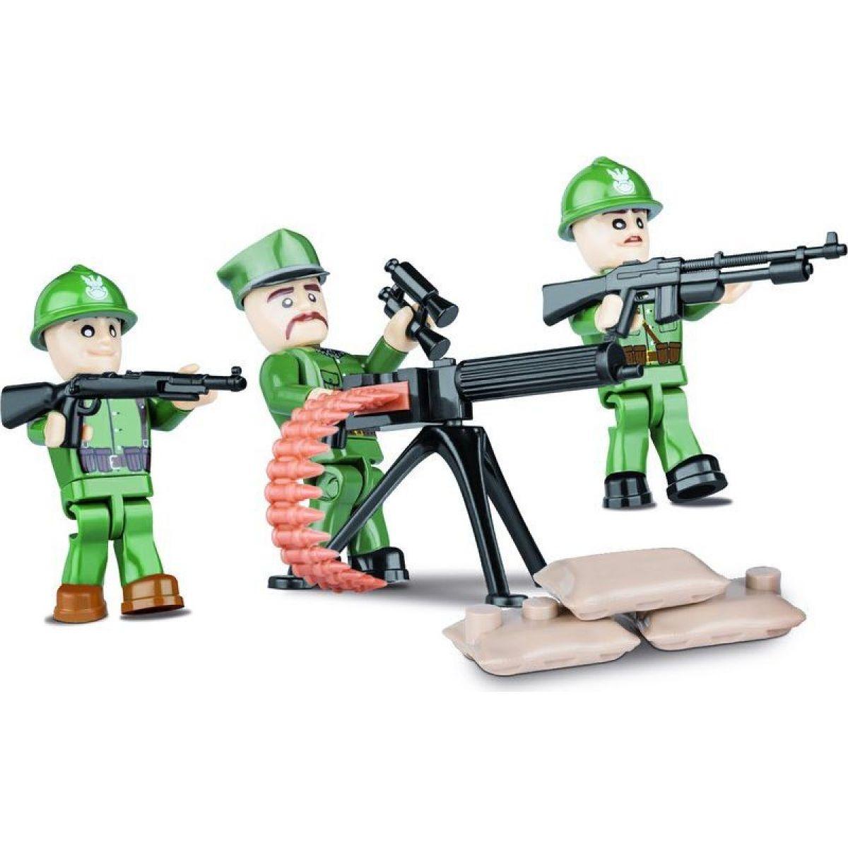 Cobi 2029 Malá armáda 3 figúrky s doplnkami Poľská armáda
