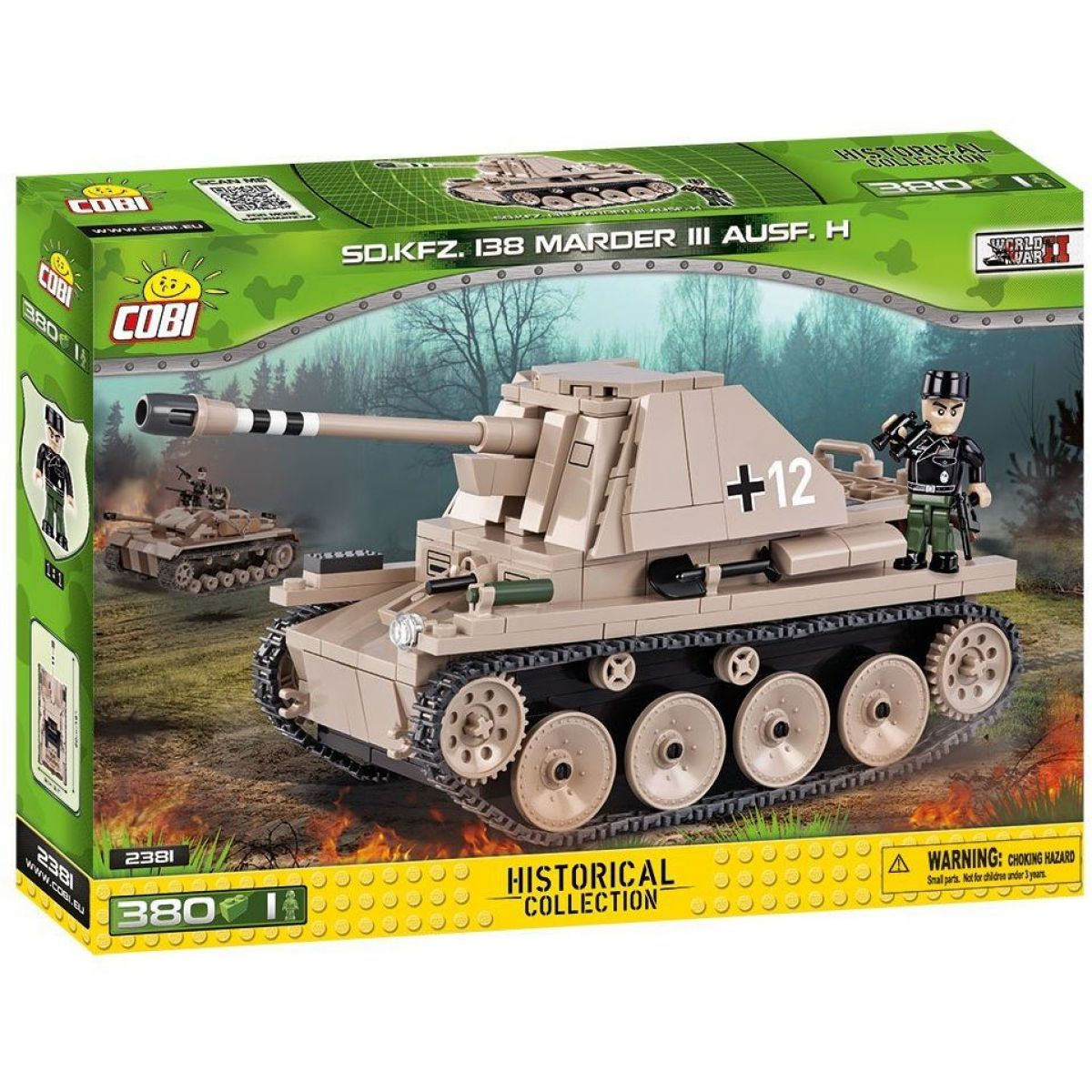 COBI 2381 SMALL ARMY – Sd.Kfz.138 Marder III Ausf.H 380 k 1 f