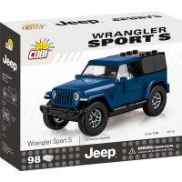 Cobi Jeep Wrangler Sport S 1:35 modrý