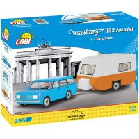 Cobi Youngtimer Wartburg 353 Tourist s karavanom