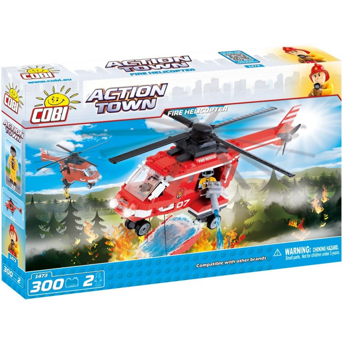 Cobi 1473 ACTION TOWN Hasičská helikoptéra