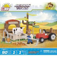 Cobi 1873 ACTION TOWN Traktor a kráva 4