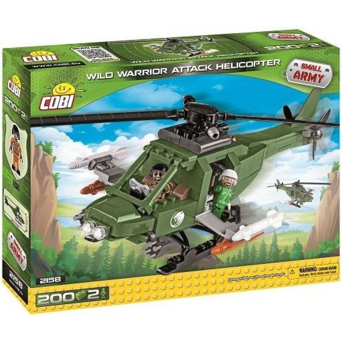COBI 2158 Small Army Útočná helikoptéra Wild Warrior, 200 k, 2 f