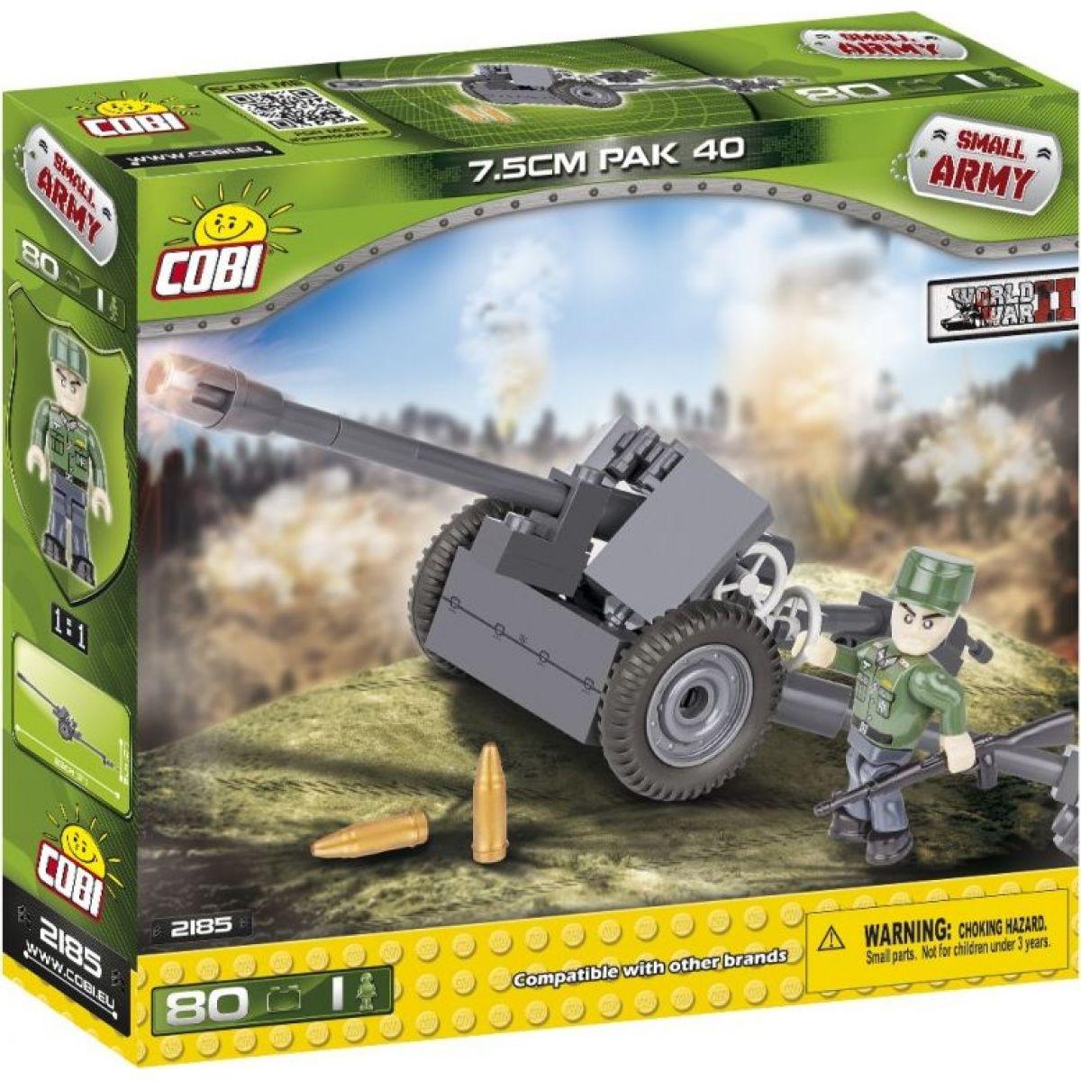 COBI 2185 II WW PaK 40 Panzerabwehrkanone 3 7,5 cm 80 k 1 f