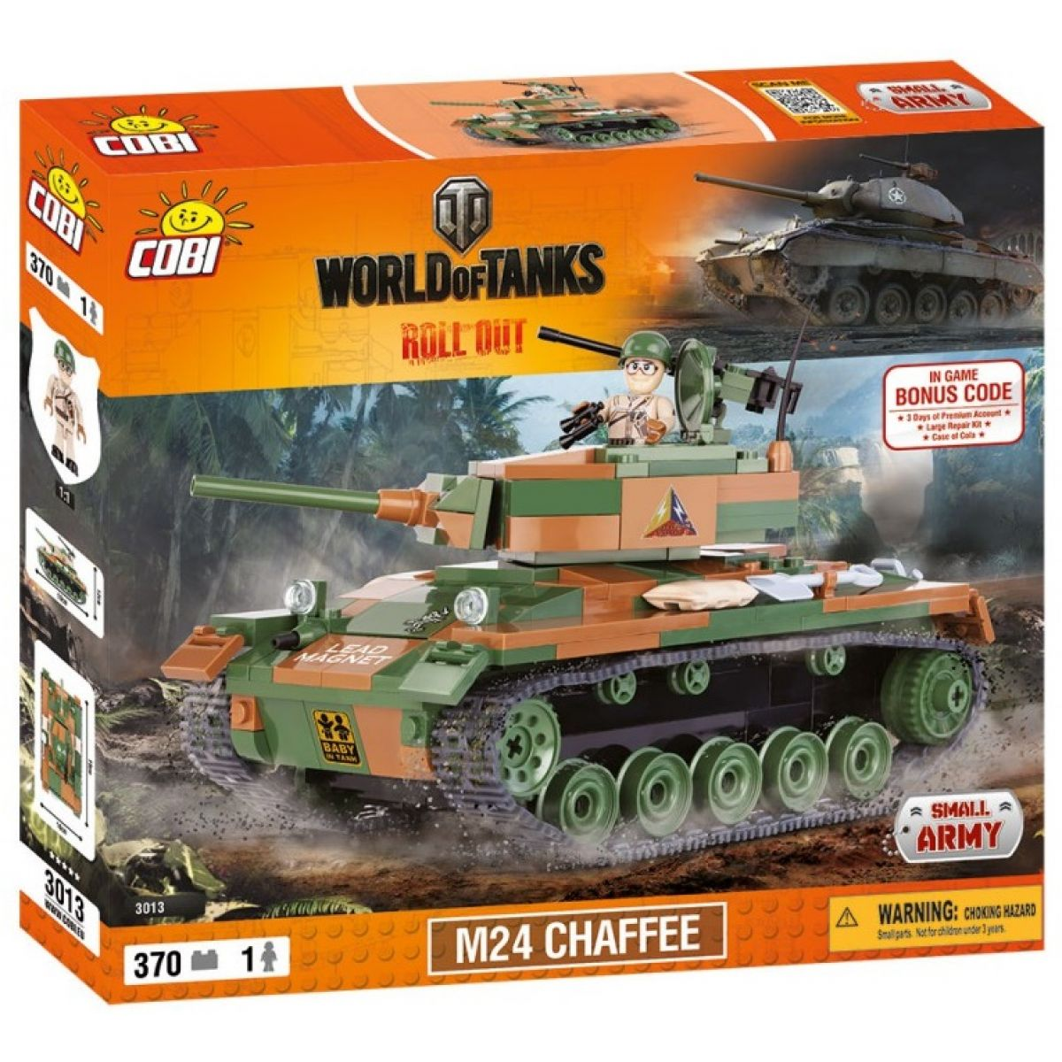 Cobi 3013 World of Tanks Tank M24 Chaffee