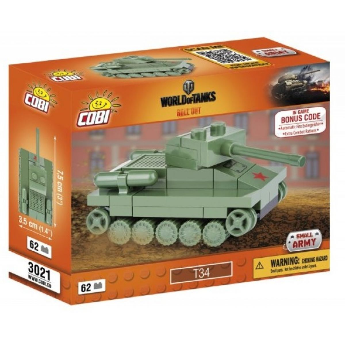 Cobi 3021 Small Army World of Tanks Nano Tank T-34