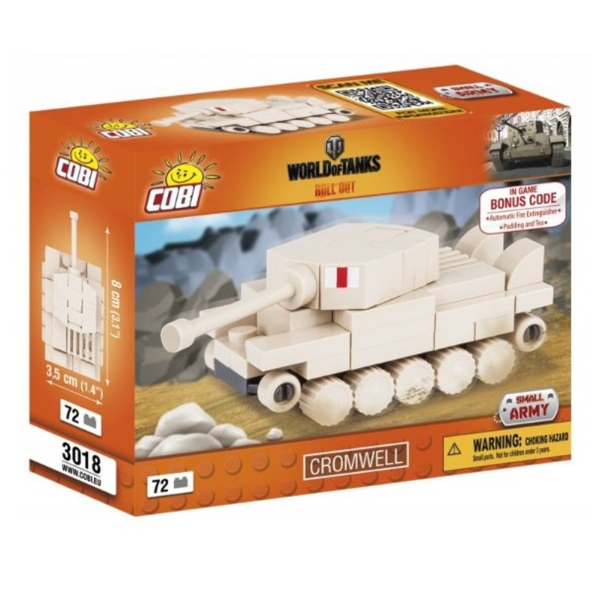 COBI 3018 WORLD of TANKS Nano Tank Cromwell 72 k